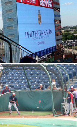 pictures of Phi Theta Kappa night at Phillies ballpark